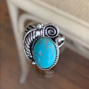 Fashionable Sky blue ring